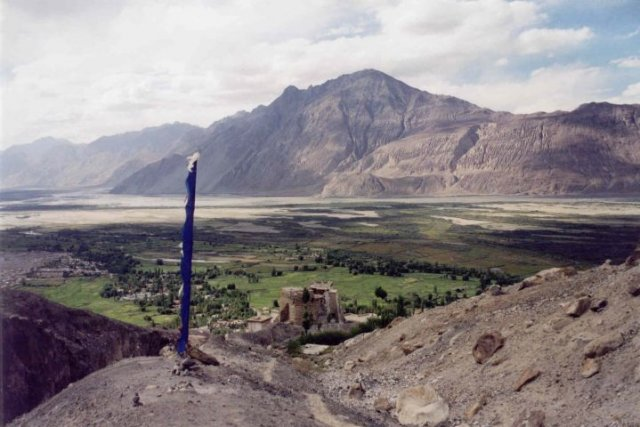 Nubra and Syok confluence  in the verge of the Himalayas and Karakoram in the northern Ladakh.